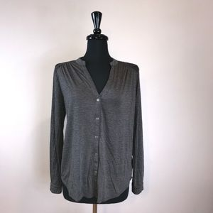 Xhilaration Beautiful gray blouse/button up